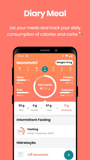 Foto do Technutri - calorie counter, diet and carb tracker