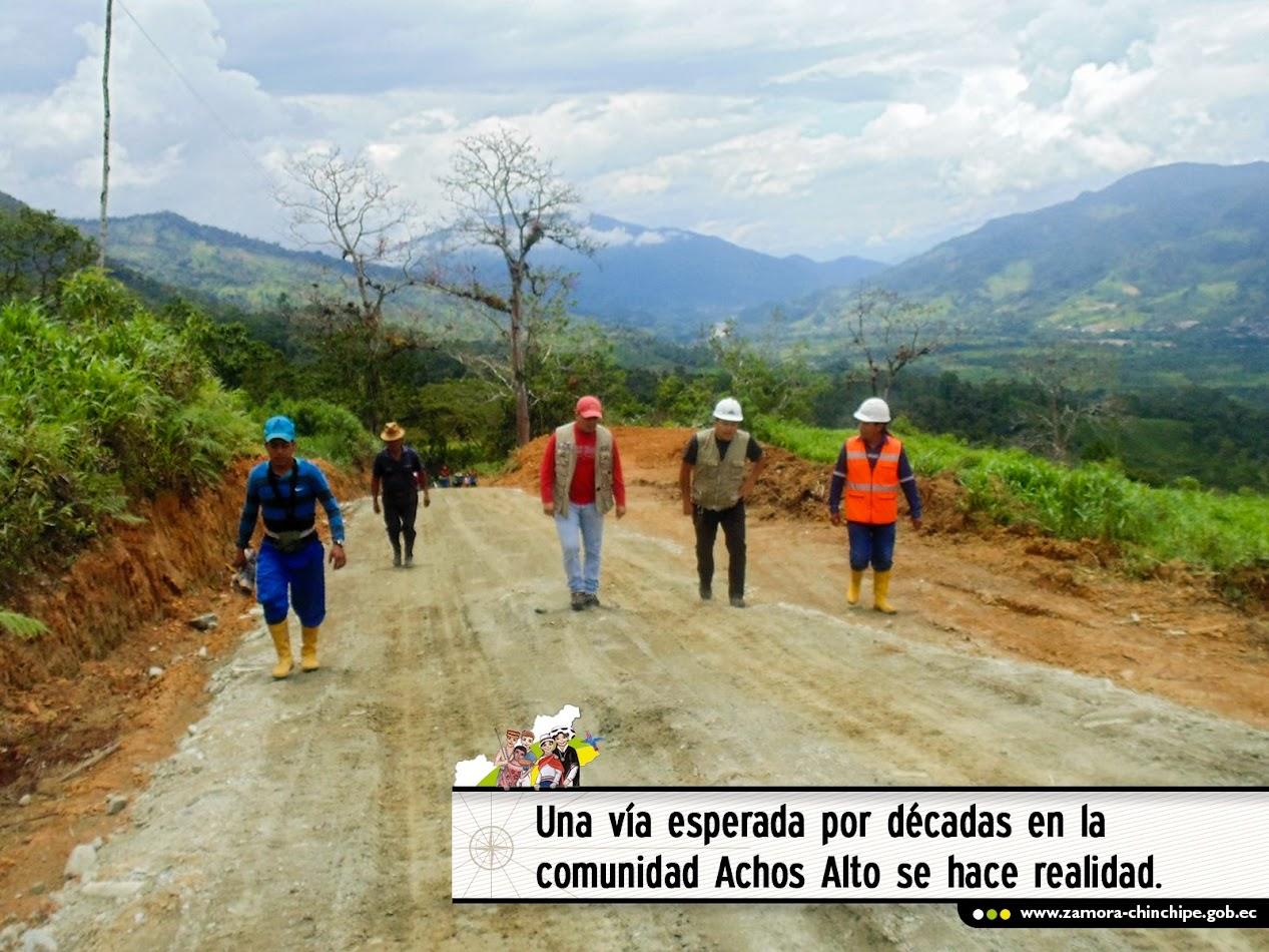 UNA VÍA ESPERADA POR DÉCADAS EN LA COMUNIDAD HACHOS ALTO SE HACE REALIDAD