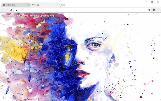 Abstract HD Wallpapers Art New Tab Theme