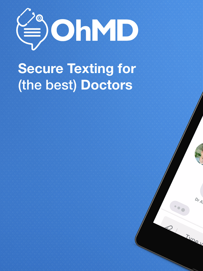OhMD: Secure Texting for Docs- screenshot