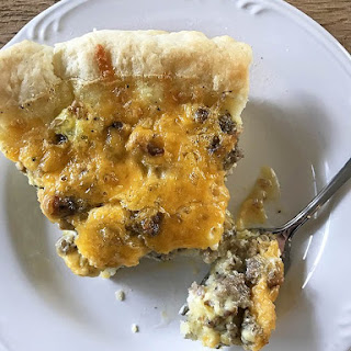 Southern Sausage Cheddar Quiche.