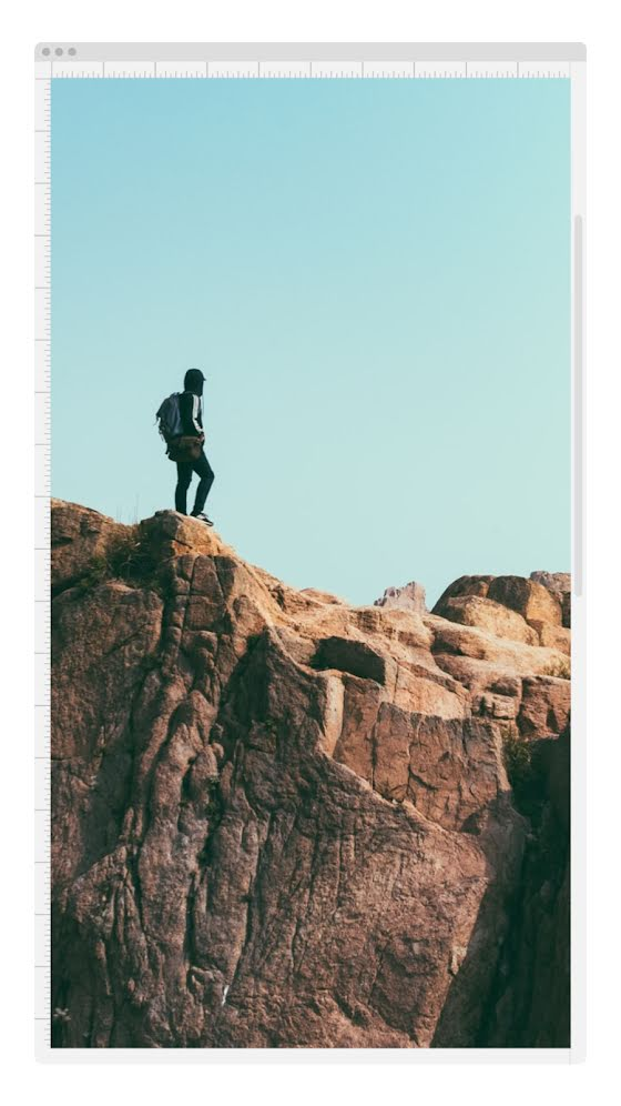 Rocky Cliff Window - Facebook Story Template