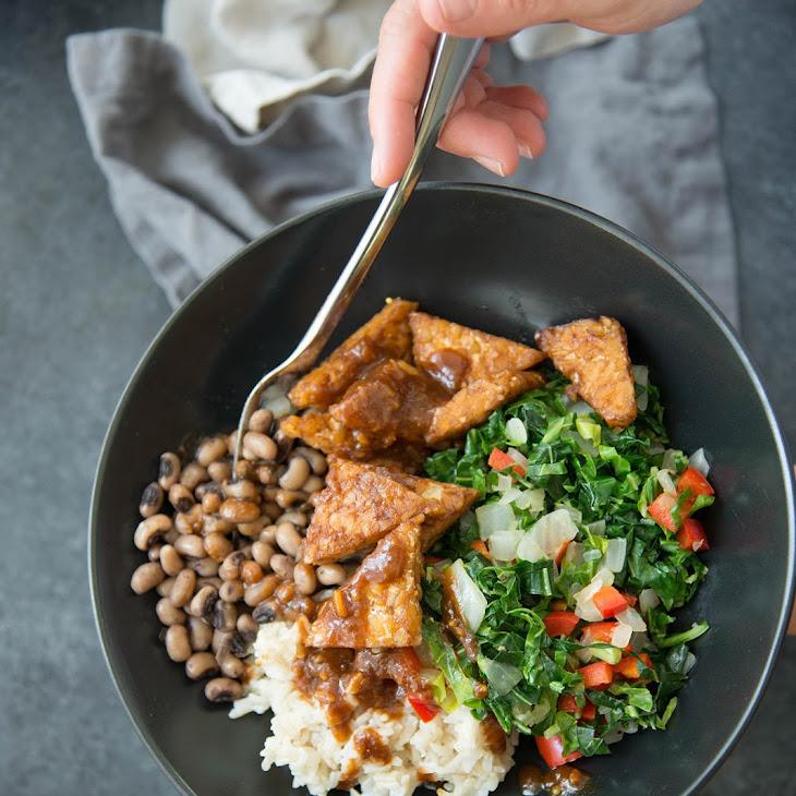 Collard Greens & Tempeh BBQ Bowls Recipe