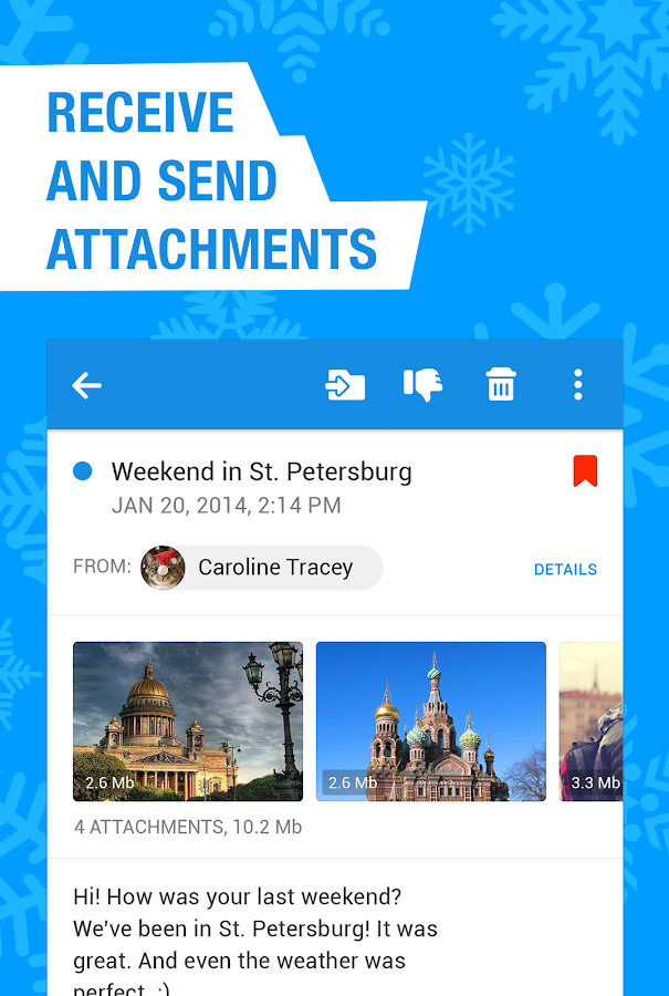 Screenshots of Mail.Ru - Email App for iPhone