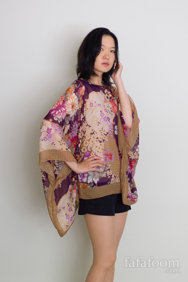Result: Scarf Top with Kimono Sleeves | DIY Fashion - Fafafoom.com