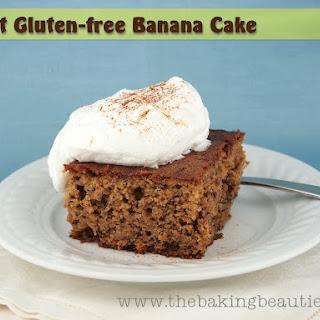 Moist Gluten Free Banana Cake.