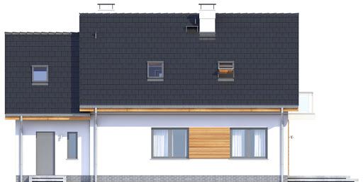 Pinczer 7 z garażem - Elewacja tylna