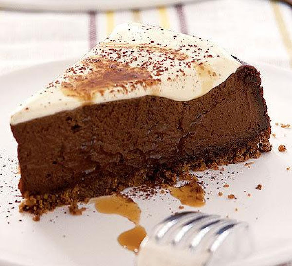 Chocolate Cheesecake With Sour Cream Topping Recipe
