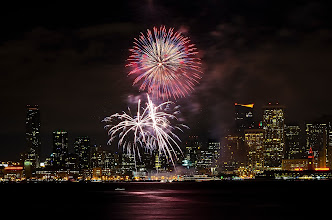 Photo: In with the new San Francisco, CA. 2013.  There is something so very magical about fireworks as we break into a new year. To me it is a celebration of the triumph of the human spirit, and our will to look at the future with hope.  Happy New Year G+  #sanfrancisco  #newyear2013