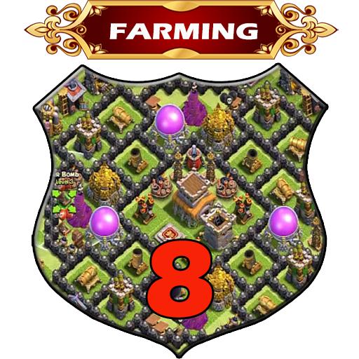 Town Hall 8 Farming Base Layouts