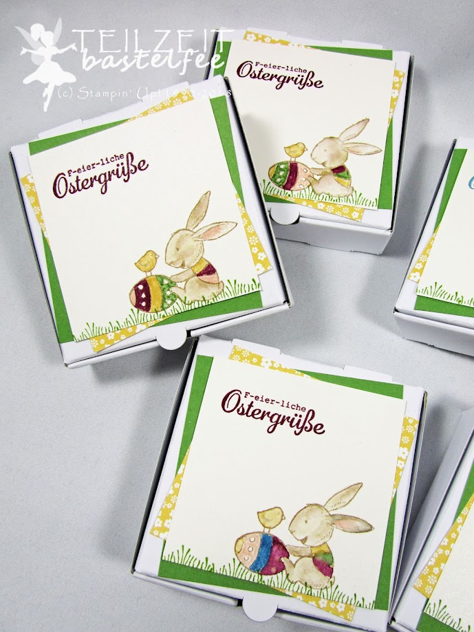 Stampin' Up! - IN{K}SPIRE_me Challenge #343, Easter, Ostern, Hasenparade, Everybunny, Pizza box, Pizzaschachtel