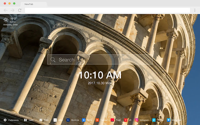 Leaning Tower of Pisa New Tabs HD Themes