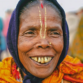 'Smile' by Nirupam Roy - People Portraits of Women ( face, woman, kumbha., smile, people, pwc faces )