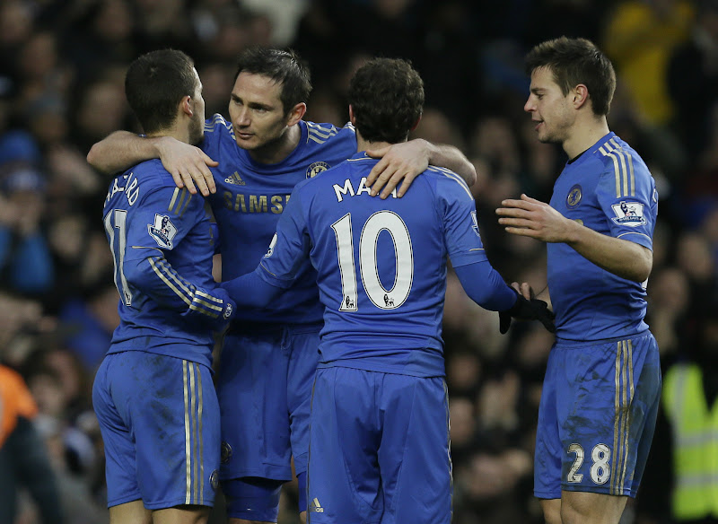Photo: Lamps celebrates his goal with team-mates