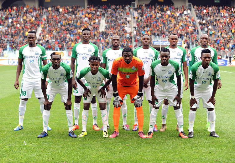 Gor Mahia players pose for photographers before the CAF Champions League soccer match against Esperance Sportive de Tunis of Tunisia at the Olympic Stadium Rades in Tunis, Tunisia, 18 March 2018.