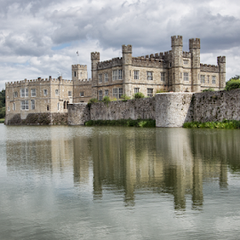 Leeds Home Castle by Gianluca Presto - Buildings & Architecture Homes ( sky, historic, castle, reflection, clouds, house, ancient, building, home, water reflection, cloudy, homes, lake, architecture )