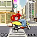 Pizza Delivery Boy : Smash ATV Simulator icon