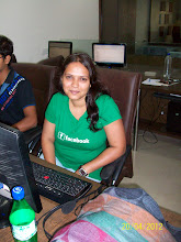 Photo: Hetal shows off her Facebook shirt