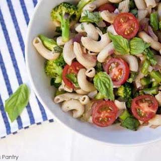 Clean Eating Vegetable Basil Macaroni Salad