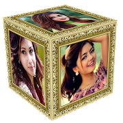 3D Photo Cube Frame Live Wallpaper‏