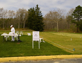 Photo: Setting up on our first day of play as the Sandwich Croquet Club - May 3, 2011