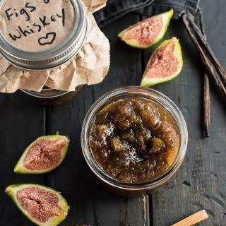 Chunky Fig Jam with Whiskey and Vanilla.