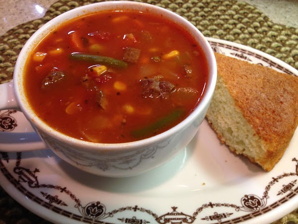 Beefy Vegetable Soup Recipe
