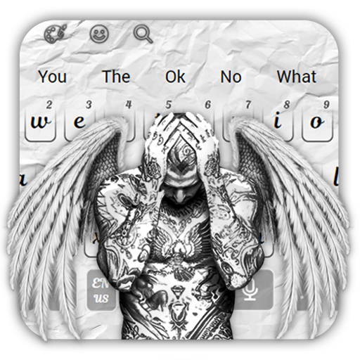 Men Wing Tattoo Keyboard Theme