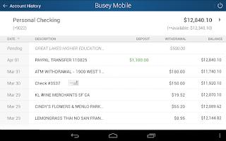 Screenshot of Busey Mobile