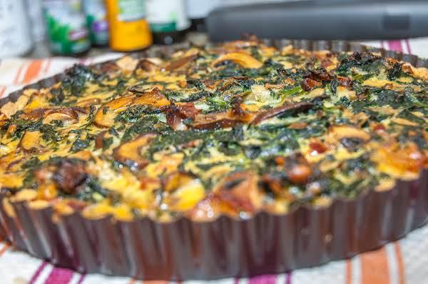 Quiche Essentials: Spinach, Mushroom, Bacon Tart Recipe