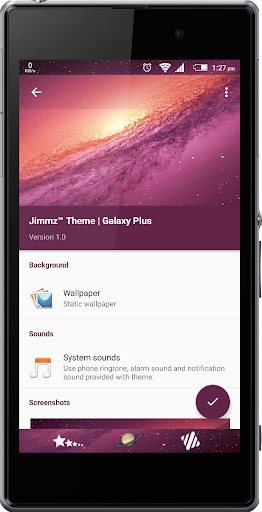 eXperiaz Theme - Galaxy Plus+