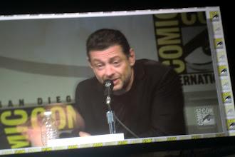 Photo: Saturday - The Hobbit panel; star Andy Serkis