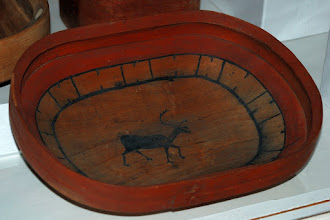 Photo: Old wooden bowl - Sheldon Jackson Museum, Sitka