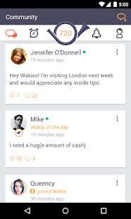 4 Wakie – Voice Conversation App App screenshot