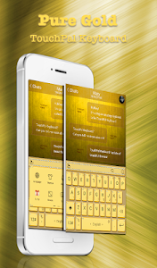 Golden Yellow Keyboard Theme screenshot 0