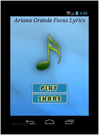 Ariana Grande Focus Lyrics