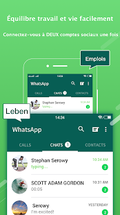 2Face-2 comptes pour whatsapp,social apps Capture d'écran