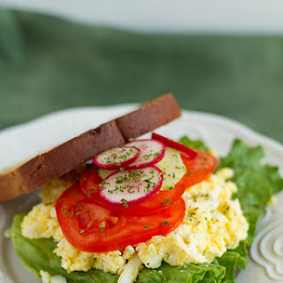 Homemade Egg Salad Sandwich.