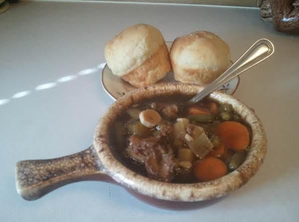 Crockpot Pulled Pork & Veggie Soup Recipe