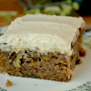 Zucchini Cake with Browned Butter Frosting.
