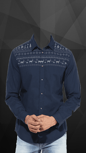 Man Casual Shirt Photo Suit screenshot 1