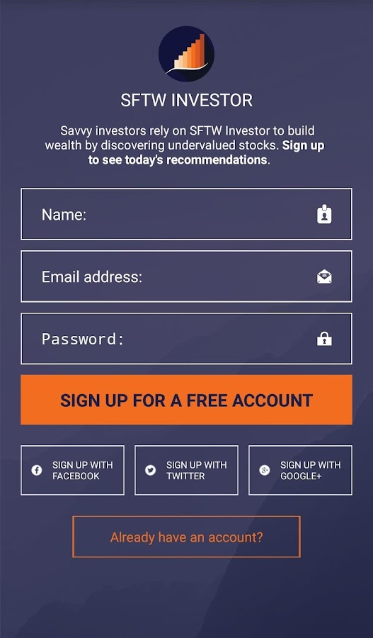 SFTW Investor- screenshot