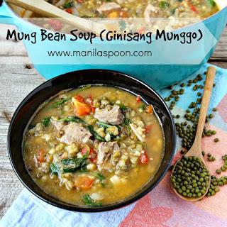 Ginisang Munggo (Mung Bean Soup / Stew).
