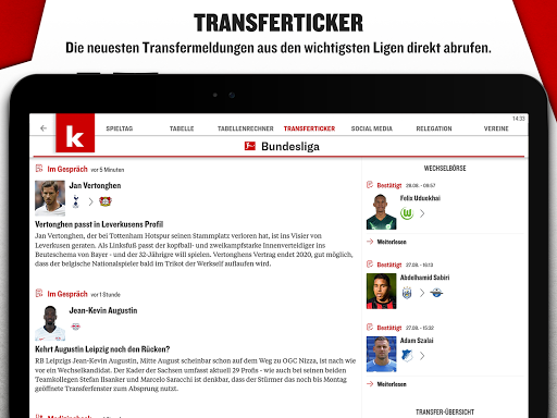 kicker Fußball News 6.6.0 screenshots 16