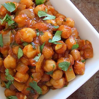 Quick Curried Chick Peas.
