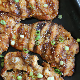 Korean Grilled Chicken Breasts.
