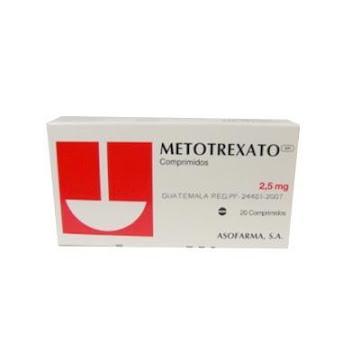 Fracción Metotrexato   Tecnofarma 2.5Mg Comprimidos Caja X20Com.