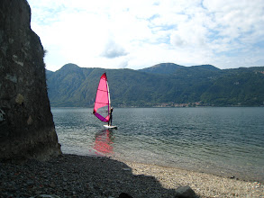 Photo: Windsurfing on Lake Como