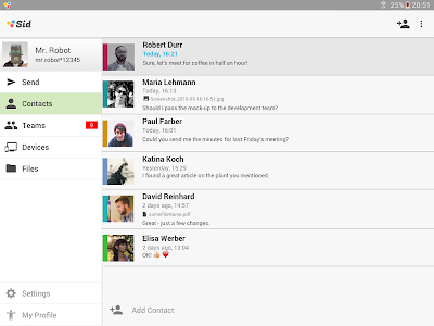 Sid - Secure Team Messenger screenshot 5