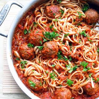 Gimme Lean West African vegan meatballs.